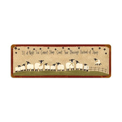 Count Sheep Vintage Metal Sign
