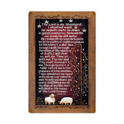 Lords Prayer Vintage Metal Sign
