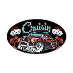 Cruisin Vintage Metal Sign