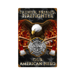 Firefighter Vintage Metal Sign