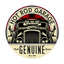 Genuine Hot Rod Vintage Metal Sign