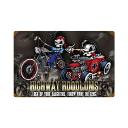 Highway Hoodlums Vintage Metal Sign