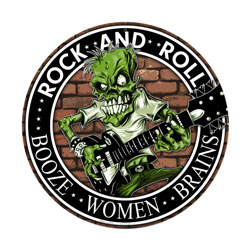 Rock n Roll Vintage Metal Sign