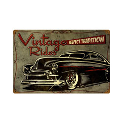 Respect Tradition Vintage Metal Sign