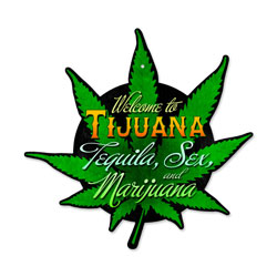 Tijuana Leaf Vintage Metal Sign