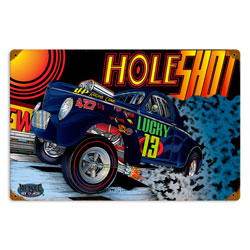 Gasser Hole Vintage Metal Sign