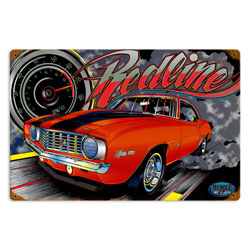 Muscle Z28 Redline Vintage Metal Sign