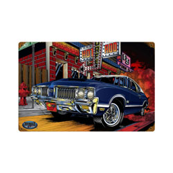 Olds 442 Vintage Metal Sign