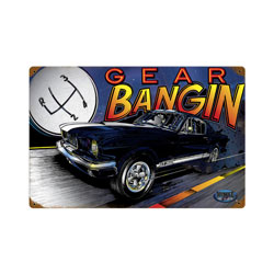 Mustang Gear Vintage Metal Sign