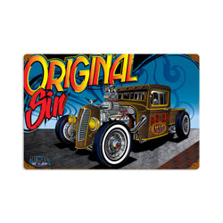 Rat Rod Original Sin Vintage Metal Sign