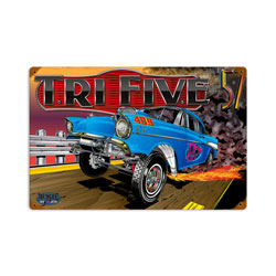 Trifive Chevy Vintage Metal Sign