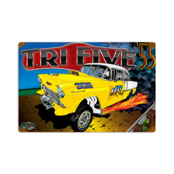 Chevy Trifive Vintage Metal Sign
