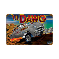 Ol Dawg Vintage Metal Sign