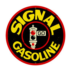 Signal Gasoline Vintage Metal Sign