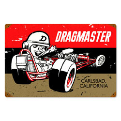 Drag Master Vintage Metal Sign