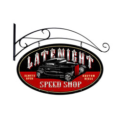 Latenight Speed Shop Vintage Metal Sign