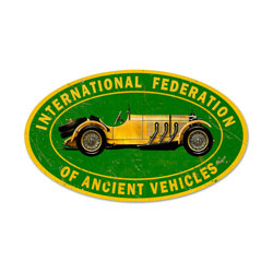 Ancient Vehicle Vintage Metal Sign