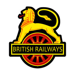 British Railways Vintage Metal Sign