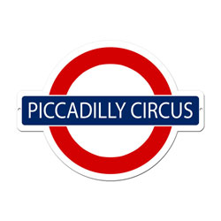 Piccadilly Circus Vintage Metal Sign