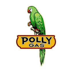 Polly Gas Vintage Metal Sign