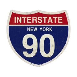 New York Interstate 90 Vintage Metal Sign