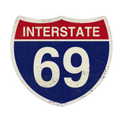 Interstate 69 Vintage Metal Sign