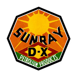 Sunray Gasoline Vintage Metal Sign