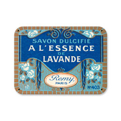 Savon Lavande Vintage Metal Sign