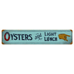 Oyster Lunch Vintage Metal Sign