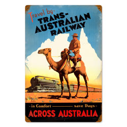 Travel Australia Vintage Metal Sign