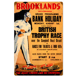 Brooklands Vintage Metal Sign