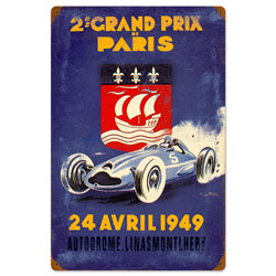 Paris Grand Prix Vintage Metal Sign