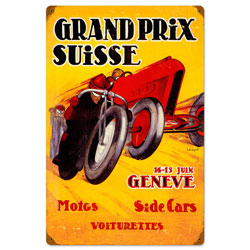 Swiss Grand Prix Vintage Metal Sign