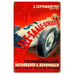 Halle Saale Racetrack Vintage Metal Sign