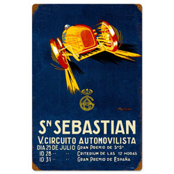 Sebastian Circut Vintage Metal Sign