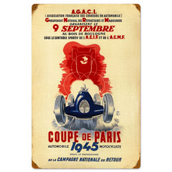 Coup de Paris Vintage Metal Sign