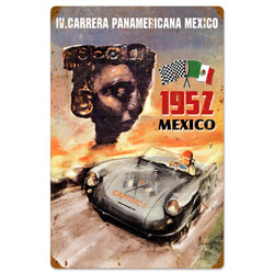 Panamericana Mexico Vintage Metal Sign