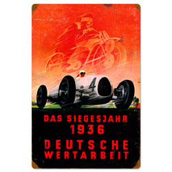 Deutsche Races Vintage Metal Sign