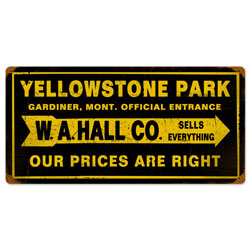 Yellowstone Park Vintage Metal Sign