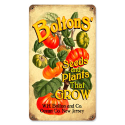 Bolton's Seeds Vintage Metal Sign