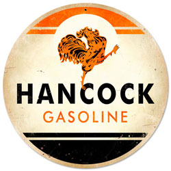 Hancock Gasoline Vintage Metal Sign