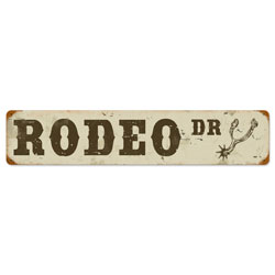 Rodeo Drive Vintage Metal Sign