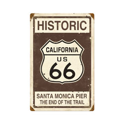 Historic 66 Vintage Metal Sign
