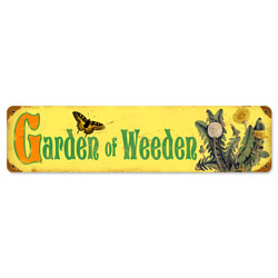 Garden Weeden Vintage Metal Sign