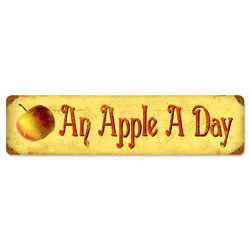 Apple a Day Vintage Metal Sign