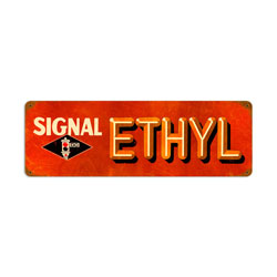 Signal Ethyl Vintage Metal Sign