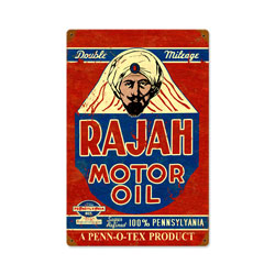 Rajah Motor Oil Vintage Metal Sign