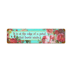 Love Rose Petal Vintage Metal Sign