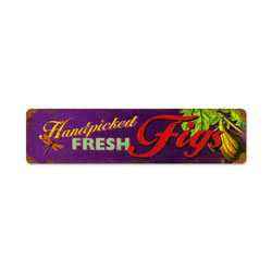 Fig Fresh Vintage Metal Sign