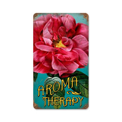 Aroma Therapy Vintage Metal Sign
